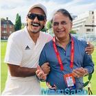 Ranveer's fanboy moment with cricket legends Sachin Tendulkar, Shane Warne and Sunil Gavaskar in London