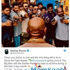 Akshay Kumar shares a BTS picture from the sets of 'Sooryavanshi'