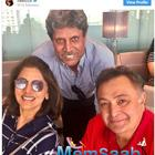 Rishi Kapoor and Neetu Kapoor's selfie with Kapil Dev has all of us 'super charged' for the World Cup