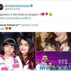 Amitabh Bachchan shares pics of Aishwarya Rai and Aaradhya, says 'Happiness is the smile on progeny'