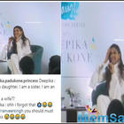 Deepika Padukone 'Forgot' she is Ranveer Singh's wife at the launch of live laugh love