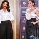 Deepika Padukone Imitates Priyanka Chopra Jonas' Monochromatic trail pant look- copy that!