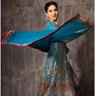 Sunny Leone looks scintillating in THIS exquisite peacock blue anarkali