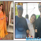 Sara Ali Khan beams as she shares a frame with her directors David Dhawan and Rohit Shetty