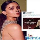 Alia Bhatt loses out on People's Choice award to South Korean singer-songwriter CL