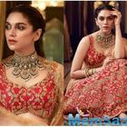 Aditi Rao Hydari's RED lehenga is perfect for your D-Day!