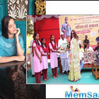 Dabangg 3 fame Saiee Manjrekar visits Phaltan to inaugurate a solar plant for orphans