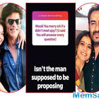 Fan asks Kajol if she would have married SRK had she not met Ajay Devgn, her answer is sheer bliss!
