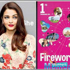 Aishwarya Rai Bachchan's face is features on the latest edition of Fireworks Workbook