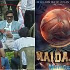 Ajay Devgn's look from 'Maidaan' leaked, the actor seen wearing Indian Football team's blazer on the sets of his sports film