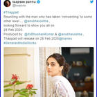 'Thappad' director Anubhav Sinha teases Taapsee Pannu announces the release date; says 'no one told me'