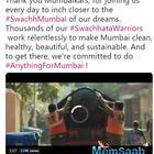 Shah Rukh Khan thanks 'Swachhata Warriors' to keep Mumbai clean