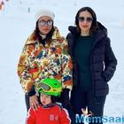 Karisma Kapoor enjoys a snowy Swiss vacay with sister Kareena, Saif and Taimur