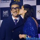 Chhapaak Screening: Deepika Padukone planted a peck on Ranveer's cheek