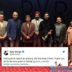 Thank you all for the love given to 'Tanhaji The Unsung Warrior': Ajay Devgn expresses gratitude towards the three military chiefs of the nation for watching his film