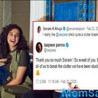 Sonam heaps praise on Taapsee Pannu, calls her a 'clutter breaker'; the 'Thappad' actress responds