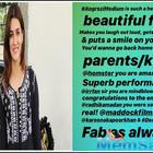 Kriti Sanon is all praise for Irrfan Khan and Radhika Madan starrer 'Angrezi Medium'