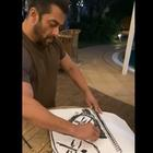 Salman Khan's sketching skills are on point and this video proves it!