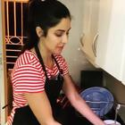 Katrina Kaif, for instance, seems to be using the time well, it seems, to hone her skills in household chores.