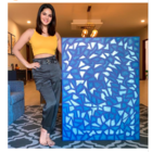 Sunny Leone shares her lockdown piece of art on Instagram, and titled broken glass.