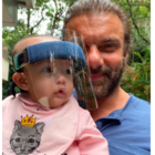 How adorable does little Ayat Sharma look wearing a face shield?