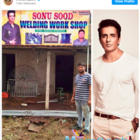 A man from Odisha names his shop after Sonu Sood to pay him tribute