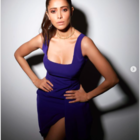 Nushrratt Bharuccha looks sizzling in a stunning purple high-slit dress