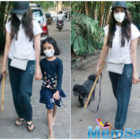Shraddha Kapoor spotted taking a stroll with her Niece Vedika and Dog Shyloh