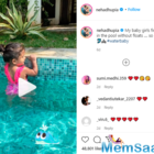 Neha Dhupia's daughter Mehr is a water baby