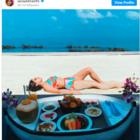 Sara Ali Khan enjoys floating breakfast during trip