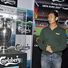 Simran and Bhaichung unveil Carlsberg UEFA Euro 2012 Trophy