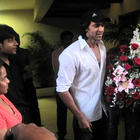 Hrithik Roshan accepting a Flower Bouquet
