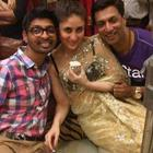 Kareena Kapoor Transparent Saree Pic On The Sets of Heroine