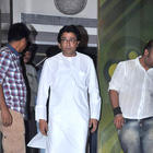 MNS Chief Raj Thackeray and Producer Arbaaz Khan at Housefull 2 Screening
