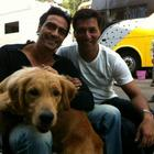 Madhur Bhandarkar,Arjun With Dog On The Sets of Heroine