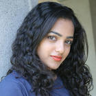 Curly Hair Beauty Nithya Menon Latest Photos