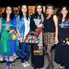 Suchitra Krishnamurthy and Nisha Jamwal at the RPG art event