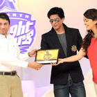 Shahrukh and Juhi unveils Kolkata Knight Riders New Logo