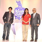Shahrukh and Juhi unveil Kolkata Knight Riders new logo