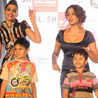 Sonam and Bipasa having fun with little fans at Inorbit mall