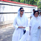 Bollywood Celebrities at the funeral of Mona Kapoor