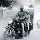 Little Jagjit Singh with his father Sardar Amar Singh Dhiman