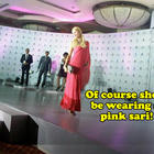 Paris Hilton In Pink Sari