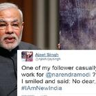 Narendra Modi's reply to Twitter user who claimed 'PM works for him' is absolutely witty
