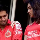 Sidharth Mallya Deepika in IPL Match
