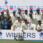 India topped the ICC Test rankings after winning the Full Set of Test Trophies...