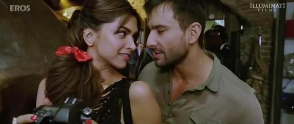 Saif and Deepika Romance In Cocktail Movie
