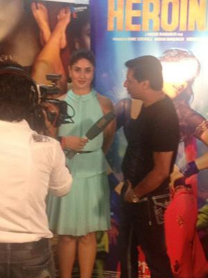 Kareena Kapoor During Heroine Promotion