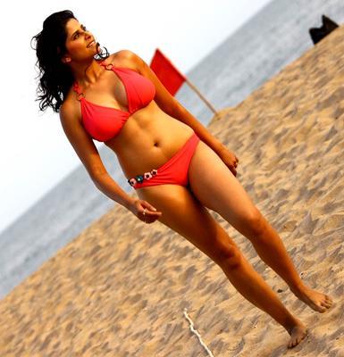 Sai Tamhankar in No Entry Pudhe Dhoka Aahe Bikini Photos