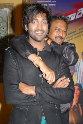 Manchu and Mohan During Denikaina Ready Movie Logo Launch Event